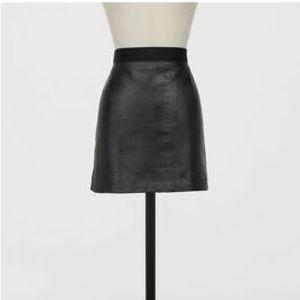 GIAMBATTISTA VALLI x H&M Leather Skirt Black Mini